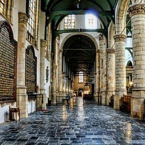 Interior of St.John's Church in Gouda, The Netherlands