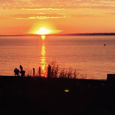 Stunning sunsets can be viewed from the Waterfront at Whitstable