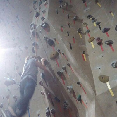 REading Rocks climbing gym  - has an awesome roof and downclimb