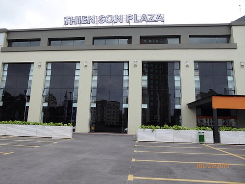 Outside plaza and inside.
