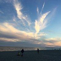 West Dennis beach at sunset