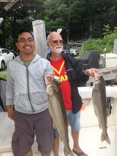 My Dad and my boyfriend showing off our catches of the day