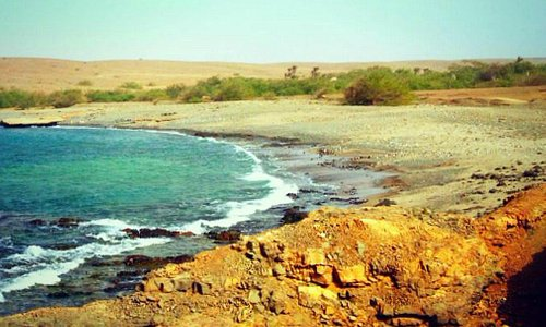Fontona Bay on the island of Sal, Cape Verde