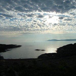 Rock Island on left