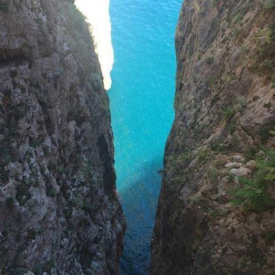 View from the top of Grotta Del Turco