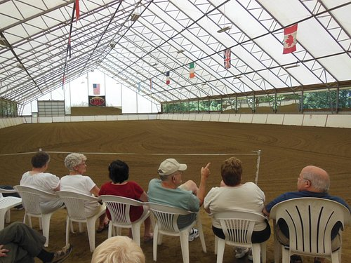 The open air show arena at Friesians of Majesty