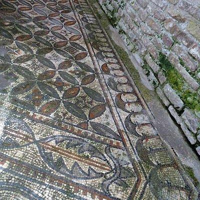Battistero di Grado, мозаики пола