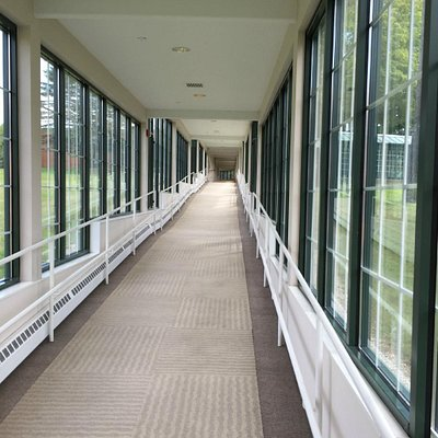 Walkway from hotel to spa area