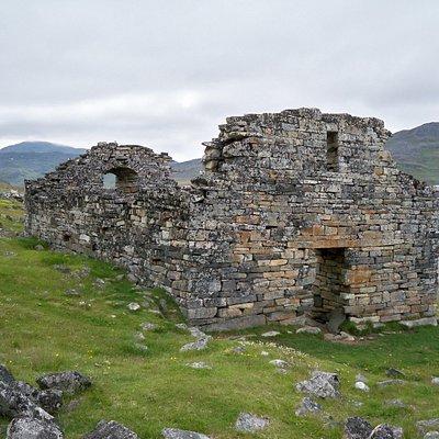 Hvalsey church ruin as seen from main entrance.