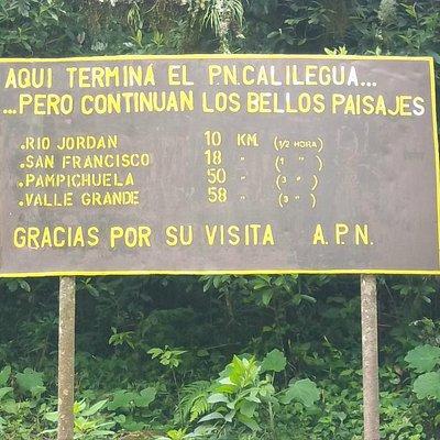 Fin del Parque Nacional Calilegua
