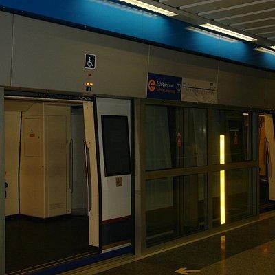 Bangkok : Station de métro du réseau MRT.