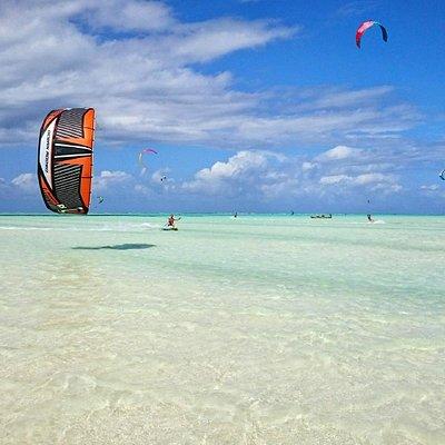 Kiting with Airborne Kite and Surf Centres, Paje beach Zanzibar! Best spot!