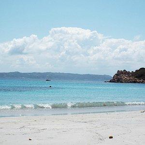 White sandy beaches, La Maddalena archipelago.