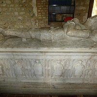 Fantastic tomb to a medieval knight