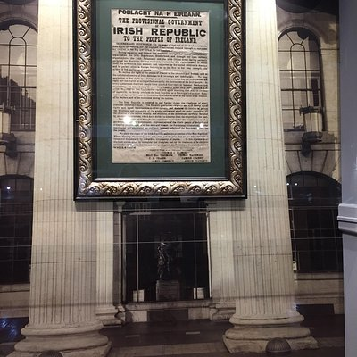 An original copy of the Irish Proclamation of Independence, part of the 1916 exhibition.