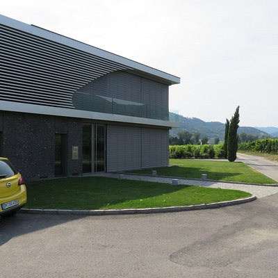 Contemporary building in an older landscape