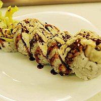 Crunchy cod roll