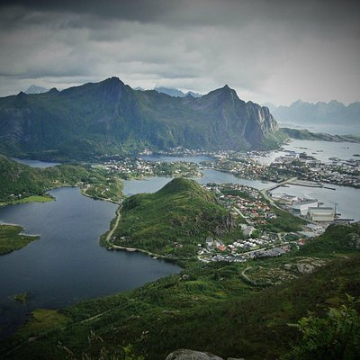 svolvaer from the top