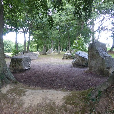 Overlooking the lines of Menhirs