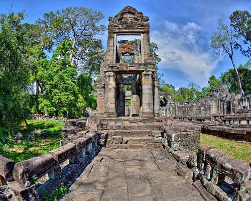 Preah Khan is a temple at Angkor