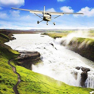 Flying over Gullfoss