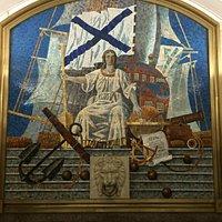 Mosaics Inside Admiralteyskaya metro station