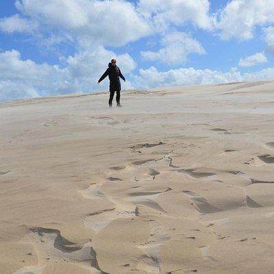 nice walk up the dunes
