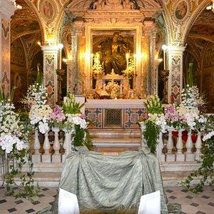Altare della cappella del duomo di Salerno