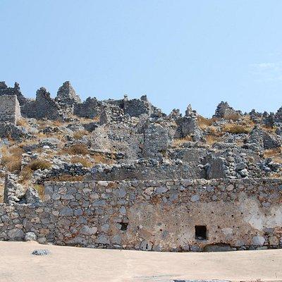 Inside ruins