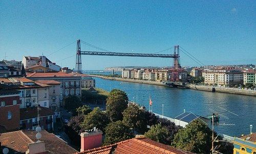 Puente Vizcaya vista do alto de Portugalete