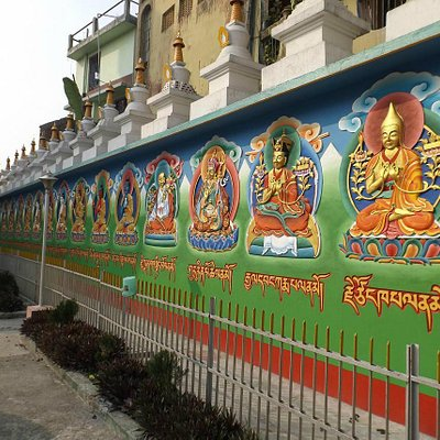 Muraled Walls of the Salugara Monastery