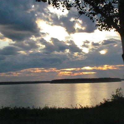 The Mackenzie River at Midnight