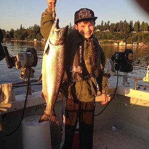 Grandson with his first King Salmon!