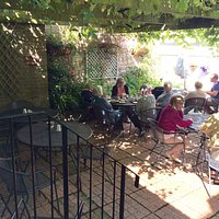 A sunny morning in the courtyard garden