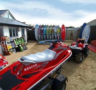 the jetski and boards