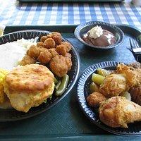 Sample plate of food
