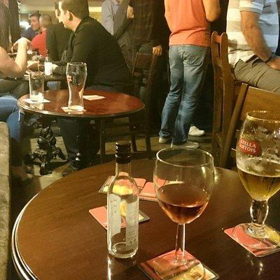 A quiet Saturday night in the cellar bar.
