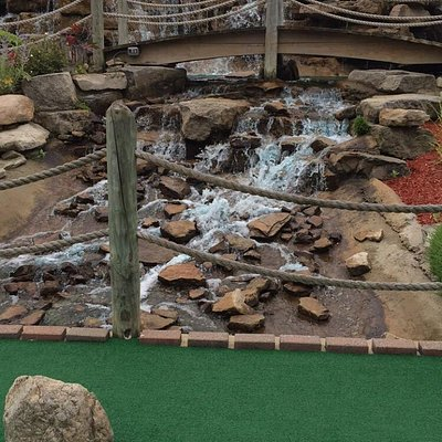 Best put put golf in the area! Staff was friendly, 18 holes, with great waterfall scenery and ob