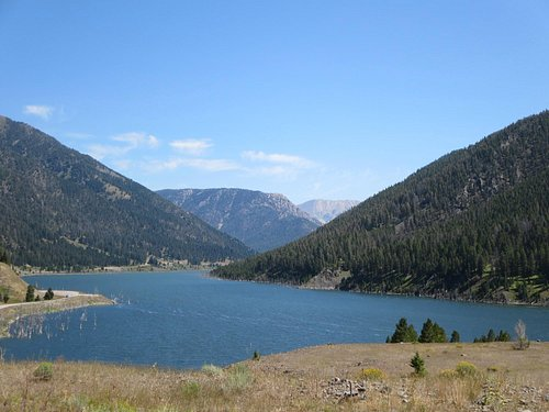 Hebgen Lake--filled in by the earthquake