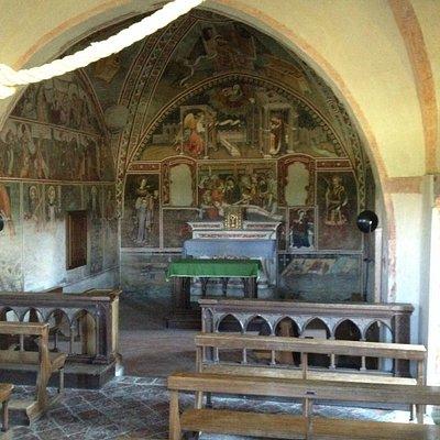 Attraverso la grata (la Cappella era chiusa)