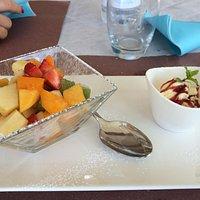 Il fritto! La macedonia e semifreddo ai frutti di bosco
