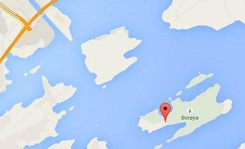 Location of Borøya (island out from Sandvika via ferry)
