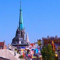 Marienkirche und Stadtkirmes