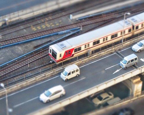 御堂筋線を走る電車