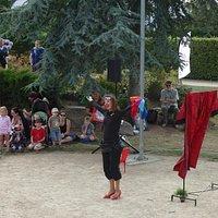 spectacle estival dans le théâtre de verdure