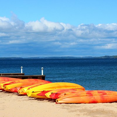 Kayaks at the beach