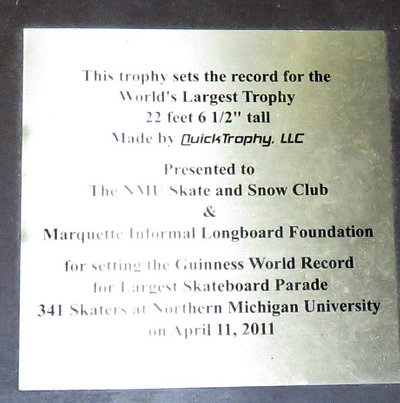 Guiness world record for the largest trophy