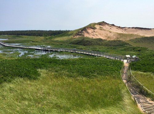 Prince Edward Island Greenwich National Park trail to the parabolic moving dune is an outstandin