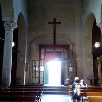 Vista dall'interno dell'entrata alla Basilica