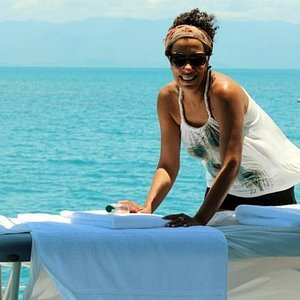 Massage on the Great Barrier Reef.